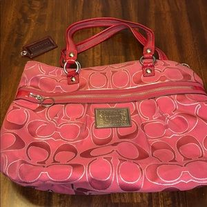 Coach Poppy Purse Bag Red authentic